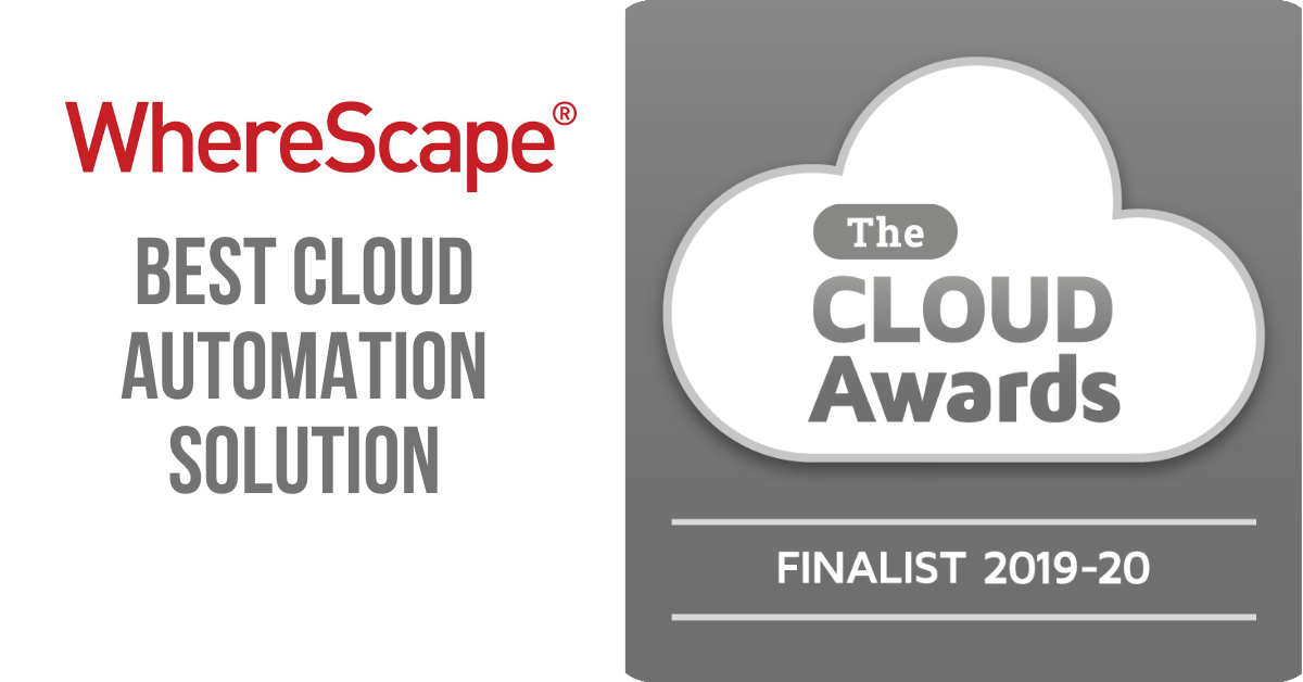 WhereScape Best Cloud Automation Solution Award